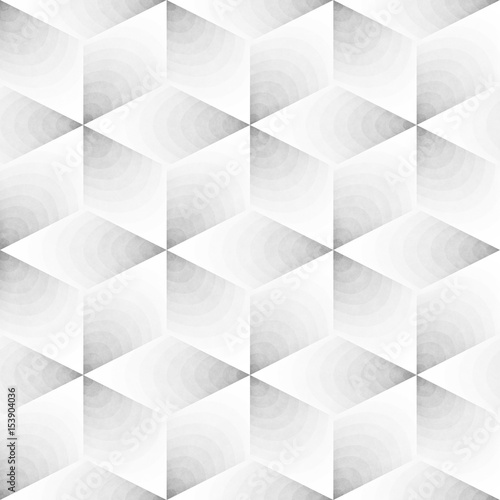 Seamless Monochrome Pattern. Grungy Geometric Shapes Tiling. - 153904036