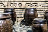 traditional korean earthenware jug