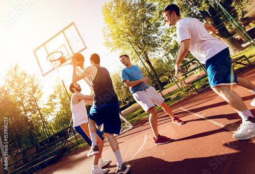 Fotobehang Basketbal Street Basketball Training
