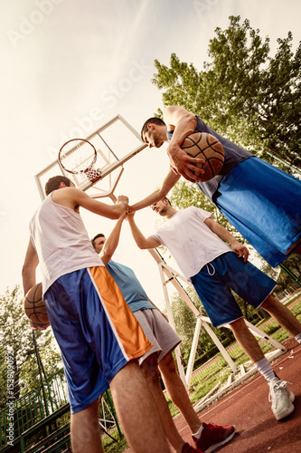 Fotobehang Basketbal Dream Team Of Basketball Players