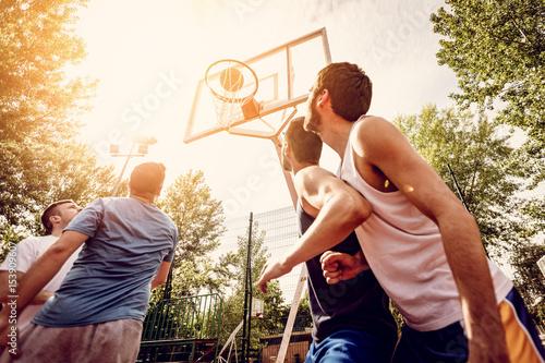 Fotobehang Basketbal Good Basketball Game