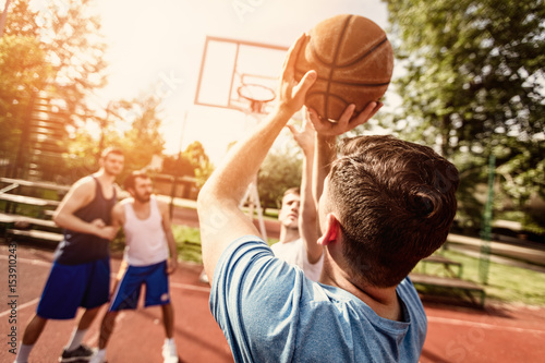 Fotobehang Basketbal Free Throw