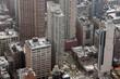 Quadro new york manhattan cityscape aerial view on foggy day