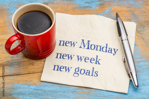 New Monday, week, goals