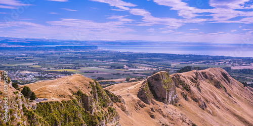 Tuinposter Purper View from Te Mata Peak. Looking Toward Hawke's Bay - Napier, New Zealand