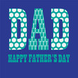 fathers day with golfball pattern