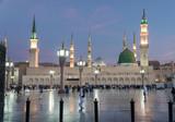 Muslims gathered for worship Nabawi Mosque, Medina, Saudi Arabia - 153954010