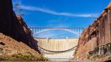 Bridge Crossing Canyon by Dam