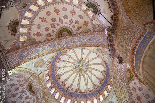 Poster Soffitto della basilica di Santa Sofia, Istanbul, Turchia