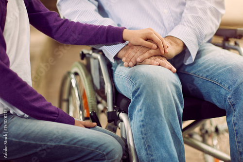Elderly Lifestyle - care helping the disabled.