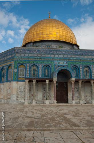 Felsendom auf dem Tempelberg in Jerusalem, Teilansicht Poster