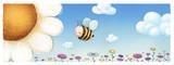 abeja y flor - 154028645