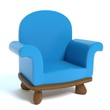 3d illustration of a cartoon chair - 154045496