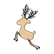 color crayon stripe cartoon of faceless reindeer vector illustration - 154058651