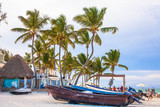 Boats on the beach in Punta Cana