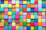 Grafika trójwymiarowa abstrakcyjne tła wielobarwnych kostek