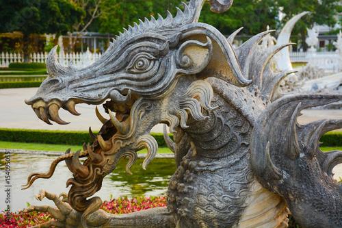 White Temple Chiang Rai Thailand Asia Poster