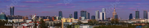 Panorama of Warsaw, the capital of Poland - 154123682