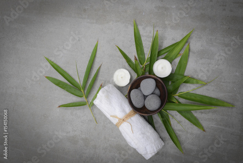 Plexiglas Spa Tropical spa setting -gray background