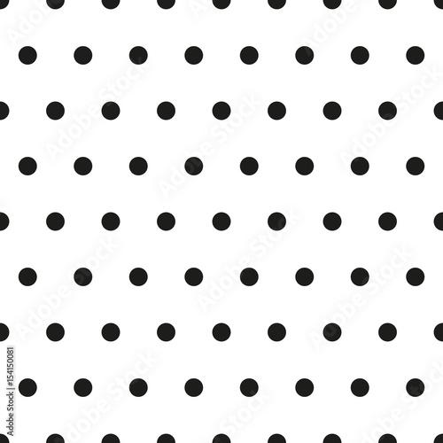 Black and white seamless background. Small polka dot pattern. Retro classic stylish background. Vector illustration. - 154150081