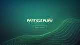 particle grid abstract background. Science minimal backdrop for presentation. Cyber wave - 154164683