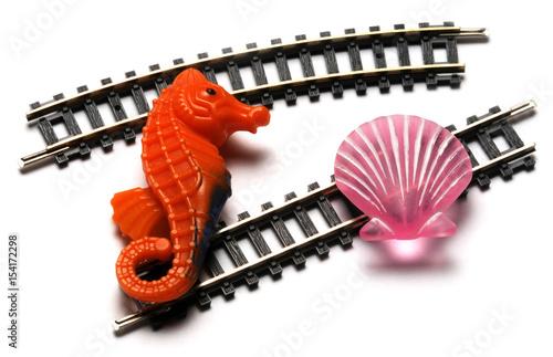 Plexiglas Spoorlijn 154172298