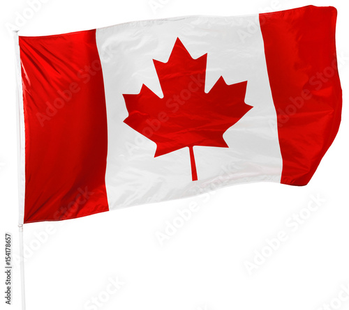 Fotobehang Canada Canadian Flag isolated on white