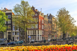 Traditional old buildings in Amsterdam.