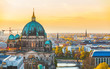 Berlin aerial view at sunset