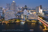 Bangkok skyline with residential buildings view