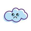 kawaii crying cloud icon - 154289422