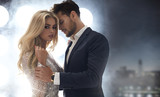 Adorable, elegant lady seducing her handsome boyfriend - 154293643