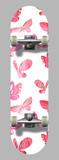 Vector skateboard template  with butterflies
