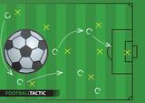 Plan strategii gry w piłkę nożną. Tło piłkarskie.