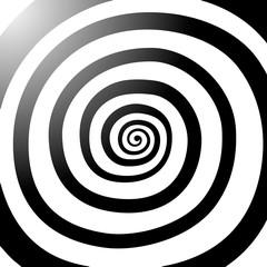 Vector spiral, background. Hypnotic, dynamic vortex.