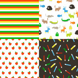 Seamless vector flat patterns.