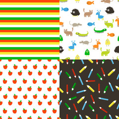 Seamless vector flat patterns.