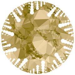 Abstract mosaic round label. Vector clip art.