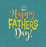 Happy Father's Day. Typography design for greeting cards, web banners. Vector Illustration. - 154434889