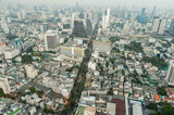 Bangkok city view from above
