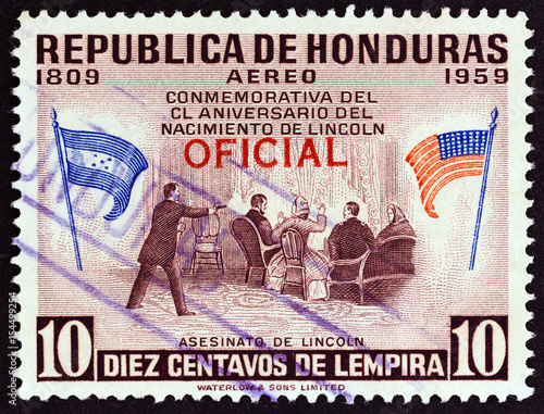 Plakat Assassination of Lincoln (Honduras 1959)