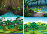 Four scenes of forests