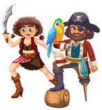 Pirate and his crew with weapon