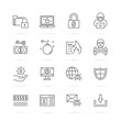 ransomware vector line icons