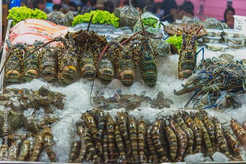 Poster Street food in chinatown, Yaowarat is a street food market in Bangkok