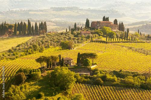 Foto op Aluminium Oranje Toscana