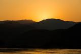 Sunset in Pakbeng in Laos