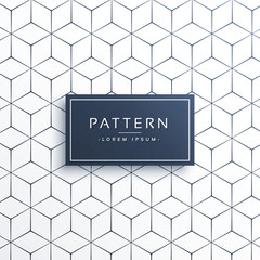 minimal geometric line pattern background in hexagonal shape