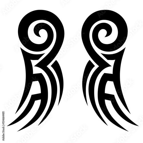 0b007c0ac7758 Tattoo/Tattoo tribal vector design. Simple tattoo tribal logo. Tattoo  tribal design for
