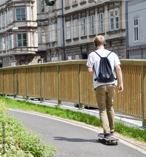 Foto op Aluminium Skateboard Skateboarden
